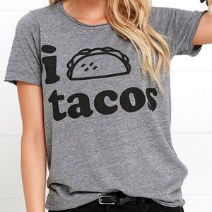 Chaser Taco Time Heather Grey Tee